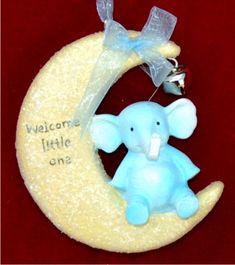 Welcome Sweet Baby Boy Personalized Christmas Ornament