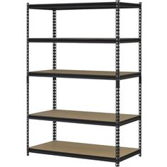Edsal 48 x 24 x 72 Inch 5-Shelf Metal Rack