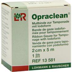 OPRACLEAN Mullbinde z.Tampon.m.Jodoform 2 cmx5 m:   Packungsinhalt: 1 St Tamponaden PZN: 04436906 Hersteller: Lohmann & Rauscher GmbH &…