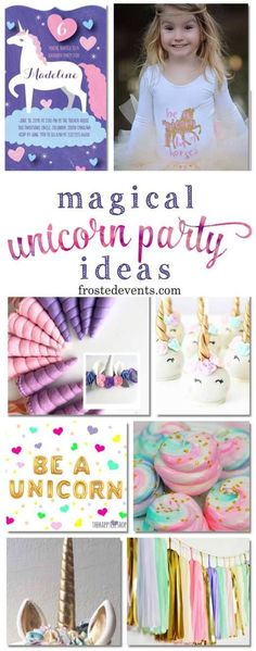 Unicorn Party Decorations for a Magical Birthday Celebration Unicorn Party Decorations and Unicorn Birthday Party Ideas via Misty Nelson Rainbow Unicorn Party, Unicorn Birthday Parties, Baby Birthday, Birthday Party Decorations, First Birthday Parties, Birthday Celebration, Birthday Ideas, Party Mottos, Birthday Supplies