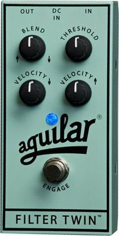 Aguilar Filter Twin Bass Effects Pedal Surf Green by Aguilar. $189.00. Save 30% Off!