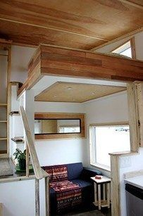 Actually, add a loft anywhere. | 31 Tiny House Hacks To Maximize Your Space: