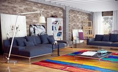 Bright Modern Living Rooms