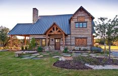 Welcoming Texas Vacation Timber Frame Cabin HQ Pictures) - Top Timber Homes Timber Frame Cabin, Timber House, Timber Frames, Rustic Houses Exterior, Tiny House Exterior, Barnwood Builders, Log Cabin Furniture, Wood Furniture, Cabins And Cottages