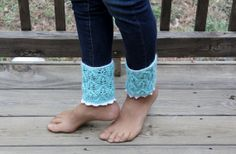 Hand knit boot cuff/ boot toppers/ankle by Cottonbeanies on Etsy, $12.00