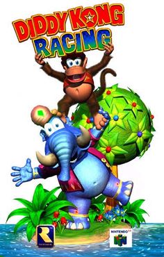 DKR promo art - Rampant Self-Promotion Super Nintendo, Nintendo 64, Nintendo Games, Video Game Art, Video Games, High End Gaming Pc, K Rool, Diddy Kong Racing, Donkey Kong Country Returns