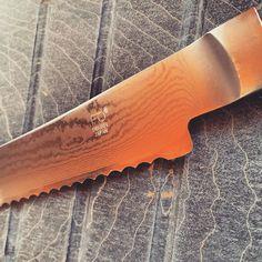 Fanout Damascus Bread Knife   http://www.fanout.jp/en/breadknife/index.html