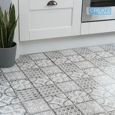 d-c-floor Self Adhesive Vinyl Floor Tiles Moroccan Grey pack of 11 tiles Grey Floor Tiles, Grey Flooring, Wall And Floor Tiles, Wall Tiles, Flooring Ideas, Peel And Stick Floor, Peel And Stick Vinyl, Vinyl Flooring Kitchen, Bathroom Flooring