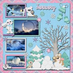January 2018 by FranB Designs - page by Linda - https://www.plaindigitalwrapper.com/shoppe/product.php?productid=15040