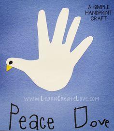 Handprint Dove Craft