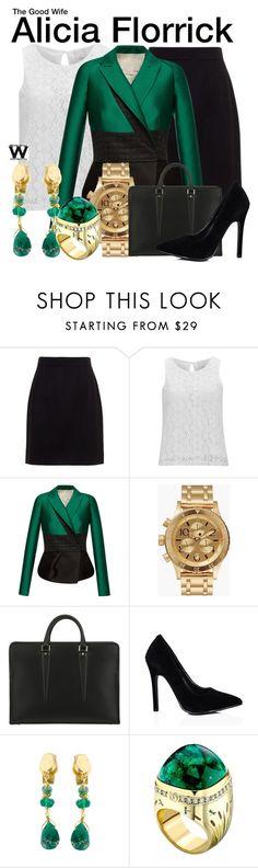 """The Good Wife"" by wearwhatyouwatch ❤ liked on Polyvore featuring Dolce&Gabbana, Vero Moda, Antonio Berardi, Nixon, OHBA, Natasha Collis, Theo Fennell, women's clothing, women's fashion and women"