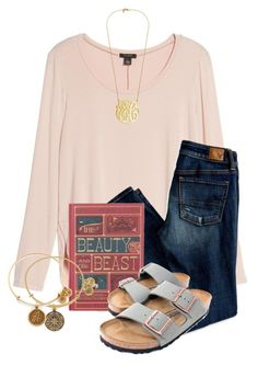""""""" rtd"""" by lhnlila on Polyvore featuring Halogen, American Eagle Outfitters, Birkenstock and Alex and Ani"""