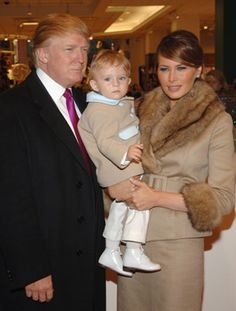 Donald Trump and baby boy Barron William Trump