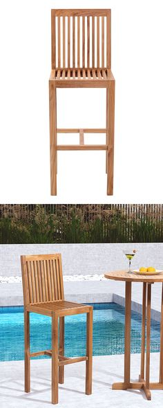 the outdoor teak plantation chair with matching footrest made of