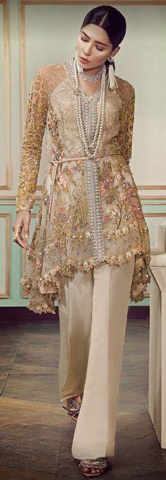New Bridal Wear Indian Pakistan Ideas Pakistani Bridal Couture, Pakistani Party Wear, Pakistani Wedding Outfits, Pakistani Dresses, Party Wear Dresses, Casual Dresses, Fashion Dresses, Bridal Dresses, Pakistan Fashion