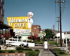 Harman Cafe Kentucky Fried Chicken, 1950s #KFC