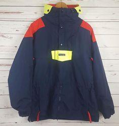 Vintage 80 90 s COLUMBIA Mens Windbreaker Pullover Jacket Zip Hood Size  Large  Columbia   770fb0fac5969