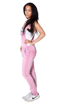 Cute and fashionable ladies pale pink dungarees. #dungarees #overalls #pink #fashion