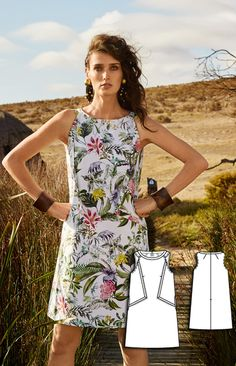 Shift Dress Burda Jun 2016 #109 Pattern $5.99: http://www.burdastyle.com/pattern_store/patterns/summer-shift-dress-062016