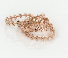 Vine Wedding Band #gold14kjewelry
