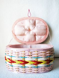 Vintage Candied Sewing Basket