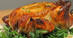This is the best fried chicken that you will ever eat. It is so moist and delicious. Usually roast chicken will be dry but not this chicken. Perfect Roast Chicken, Whole Roasted Chicken, Baked Chicken, Great Chicken Recipes, Viet Food, Baked Roast, Vtc, Vietnamese Cuisine, Winner Winner Chicken Dinner