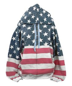 Love this Red & Blue USA Vintage-Look Zip-Up Hoodie - Plus Too on #zulily! #zulilyfinds