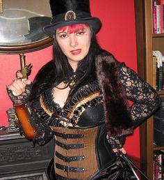 Steampunk Saloon Gal, Wild Wild West by Amanda Scrivener on Flickr.
