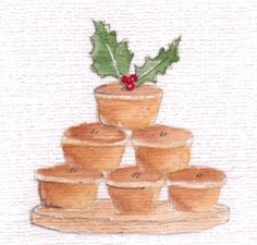 Mince pies card Christmas 2012