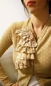 DIY Clothes Refashion: DIY Ruffle Embellished Cardigan DIY Clothes DIY Refashion