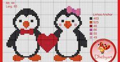 Olá genteee!   Boa tardeee!   Uns mimos lindos para as amigas!   Gráficos pinguins!   Adorooo! rsrs   Fiquem com Deus!