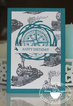 Yvonne is Stampin' & Scrapping: Stampin' Up! Traveler & Thinlits Swirly Scribbles #stampinup