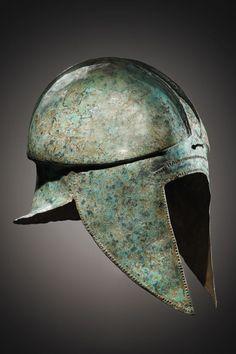 An Illyrian Helmet.  H. 32.5 cm. Bronze. Greek, mid- to 2nd half of 6th cent. B.C.