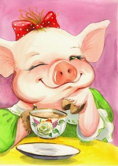 (57) Одноклассники Pig Illustration, Illustrations, This Little Piggy, Little Pigs, Pig Images, Share Pictures, Pig Drawing, Animated Gifs, Pig Art