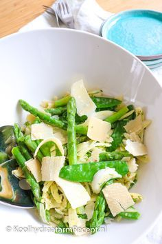 lentesalade met asperges en venkel