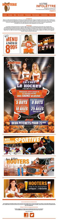 INFOLETTRE HOOTERS on Behance