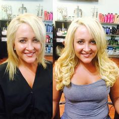 Beautiful Hair Extension Transformation! Before and After!  Book Online 24/7 at www.EyesOnYouTampa.com or call us!  (813)434-0234