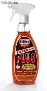 """La marca de limpieza super plus significa """"mas de lo mas""""."""