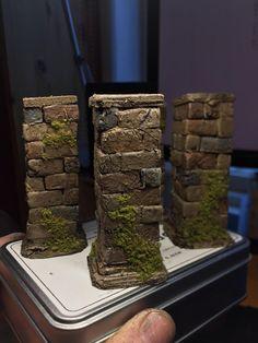 Castle Crafts, Foam Carving, Mini Things, Small Things, Magic Crafts, Stone Pillars, Arte Robot, Nerd Crafts, Warhammer 40k