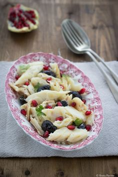 insalata di baccalà melagrana e olive