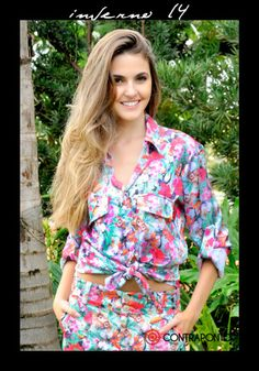 Contraponto Jeans Atacado: Estampa tropical