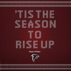 Happy Holidays from the Atlanta Falcons! Falcons Football, Falcons Gear, Atlanta Falcons Rise Up, Football Pictures, Tailgating, Wallpaper, Happy Holidays, Special Events, Ms