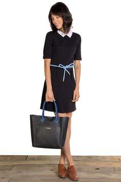 Vestido Cuello Camisero Negro | El Ganso Online Store