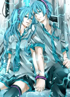 WAIT A FLASH!!!!! THERE! IS! A! MALE! VERSION! OF! MIKU!!!!!!!! or is this just fan art...