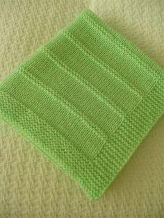 Baby Blanket Handknit Baby Blanket Spring Green di Ednascloset