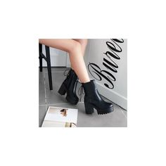 Platform Block Heel Faux Leather Mid-calf Boots ($84) ❤ liked on Polyvore featuring shoes, boots, ankle boots, footware, mid-calf boots, red boots, platform bootie, high heel bootie and mid calf high heel boots