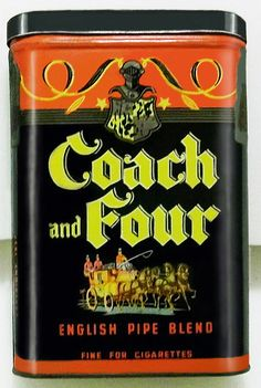 Pocket Tobacco Tin - Coach and Four