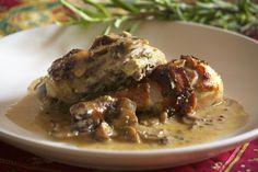 Chicken in Mushroom, Mustard & Tarragon Sauce Easy Cooking, Cooking Recipes, Healthy Recipes, Healthy Food, Pollo Al Champignon, Mexican Food Recipes, Dinner Recipes, My Favorite Food, Favorite Recipes