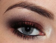 bronze and black metallic smokey eye