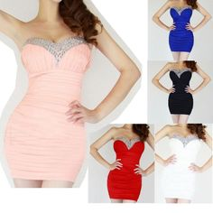 2013 Fashion Black Sexy Beaded Off Shoulder Bodycon Short Evening Homecoming Prom Party Ball Dresses Gown Size S US $33.99